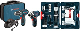 Best Bosch Power Tools Combo Kit CLPK22-120 - 12-Volt Cordless Tool Set with 2 Batteries, Charger and Case & MS4041 41-Piece Drill and Drive Bit Set Reviews