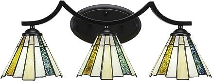 (ティーカル) Taucet Lighting Zilo 3バスバー 7インチ セコイアティファニーガラス