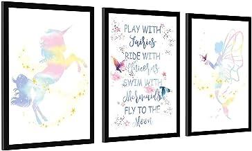 N1 en zeemeermin slaapkamer muur decor en creatieve schilderij decoratie Unframe-stijl1 12x18inch (30x45cm)
