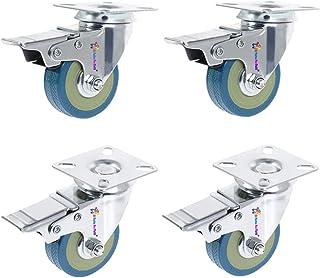 Di Tutto Per Tutti® Set van 4 wielen voor steekwagens, 50 mm, 160 kg, meubelwielen, zwenkwielen voor werkbank, wielen met ...