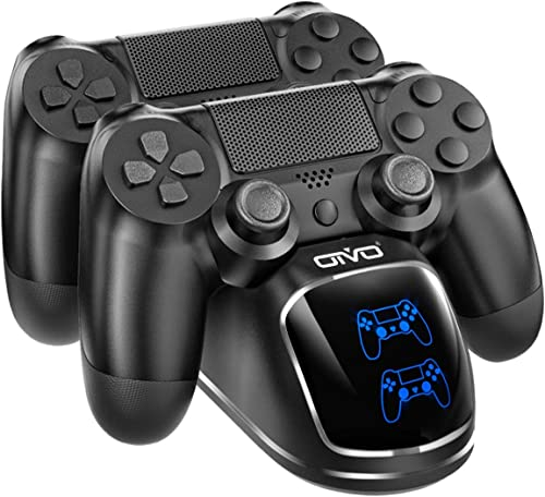 PS4 Controller Charger Dock Station, OIVO Controller Charging Dock with Upgraded 1.8Hours-Charging Chip, Charging Doc...