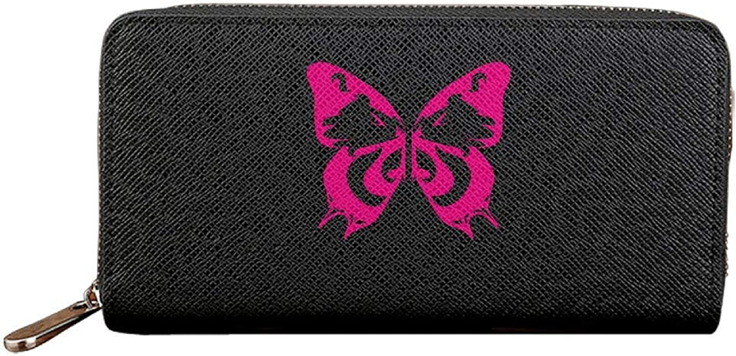 Hgfdhfgjrfj Butterfly Butterfly Butterfly Wings Complex damen Long Zipper Wallets PU Leather Lady Card Purse Travel Holder Coin B07MX7QVWB d007b2