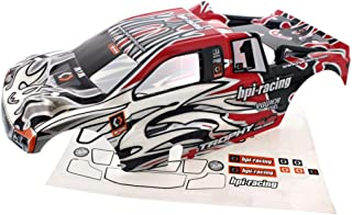 HPI 1/8 Trophy Truggy 4.6 * RED, BLACK & WHITE BODY & DECALS * Shell Cover #1