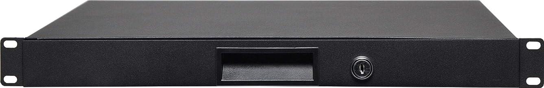 """Generic 1RU 350mm Deep 19"""" Lockable Rack Drawer"""