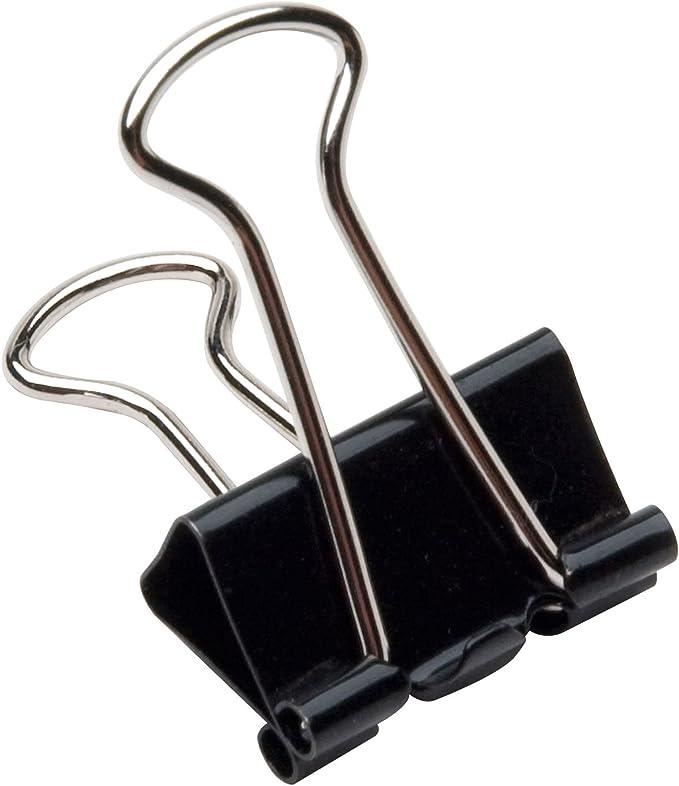 Q-Connect Foldback-Klammern Klemmvolumen 19 mm schwarz 41 mm 10 St/ück