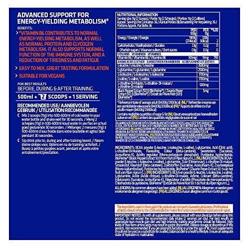 USN Supplements BCAA Power Punch Amino Acid Blend - Vegan Friendly Ultra Strength BCAA Powder, Tangerine, 400g