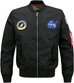 Lavnis Men's Lightweight Bomber Jacket Air Sky Flight Jacket Hip Hop Windbreaker Outwear