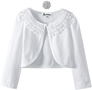Girls Lace Bolero Shrugs Long Sleeve Cardigan Dress Cover Up Tops for Little Kid