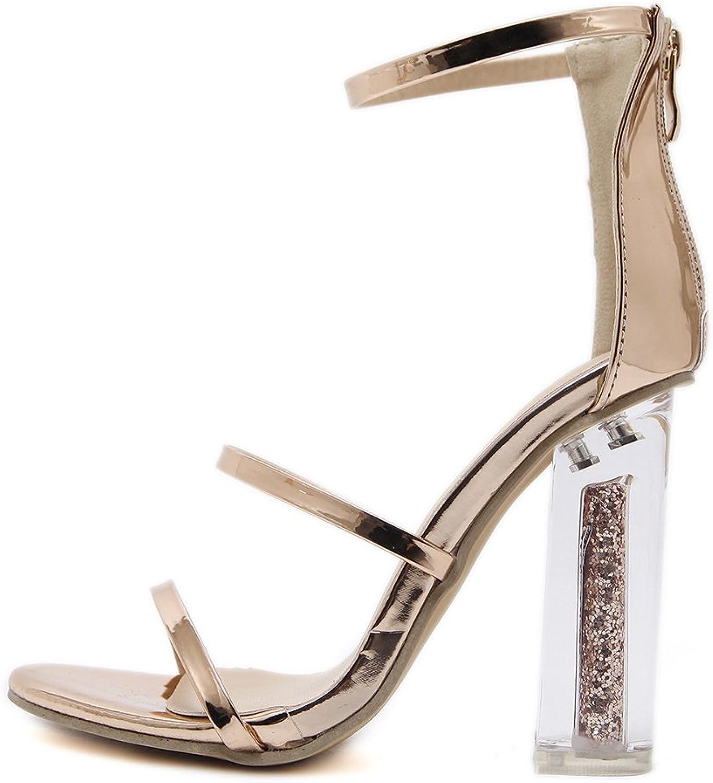 Hanglin Trade Women's Valentine Fashion Dress High Heel Peep Toe Wedding Pumps shoes
