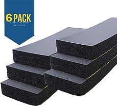 Protetores de para-choque de parede de garagem – Pacote com 6 protetores de para-choques universais de 3,17 cm de espessur...