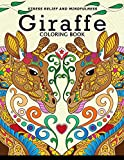Giraffe Coloring Book: Animal Stress-relief Coloring Book For Adults and Grown-ups