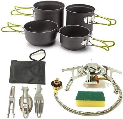 Acampar Utensilios de Cocina Cooking Set Kit de lío for 2 ...