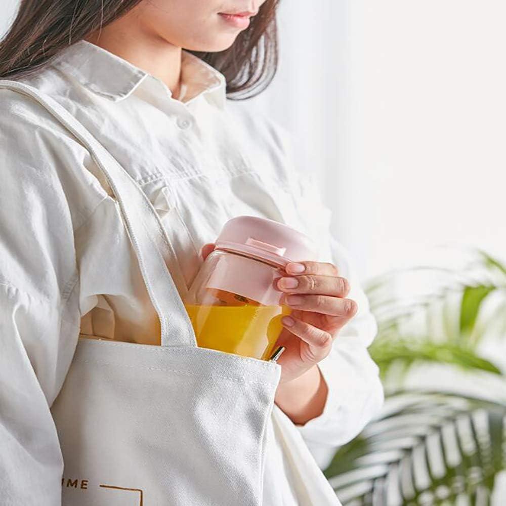 CLII Portable Mini Juice Student Cup Dortoir Multifonctions personnels Petit Ménage Juicer Blender, Milkshake Juicer, Blender, Mixer Fitness avec Fruit Voyage Pink