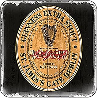 Guinness Label Cork Backed Drinks Coaster (sg)