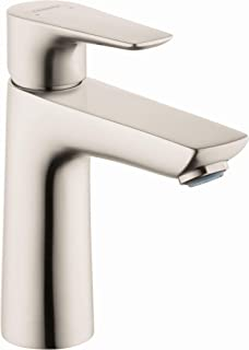 hansgrohe Talis E Modern Easy Install Easy Clean 1-Handle 1 6-inch Tall Bathroom Sink Faucet in Brushed Nickel, 71710821