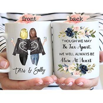Mug Avec Inscription Though We May Be Far Apart Cadeau D Anniversaire Pour Meilleure Amie Cadeau D Amitie A Longue Distance Amazon Fr Cuisine Maison