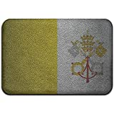 DaiMex Estilo de Cuero Bandera del Vaticano Alfombrilla Exterior Alfombrillas para Puerta Delantera Alfombra de Entrada Alfombra estándar