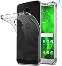 Moto G6 Case, Moto G (6th Generation) Case, Suensan TPU Shock Absorption Technology Raised Bezels Protective Case Cover for Motorola Moto G6 5.7 Inch (TPU Clear)
