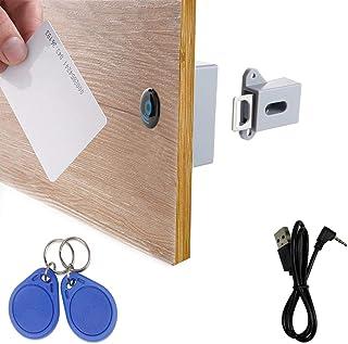 WOOCH RFID Locks for Cabinets Hidden DIY Lock – Electronic Cabinet Lock with USB..