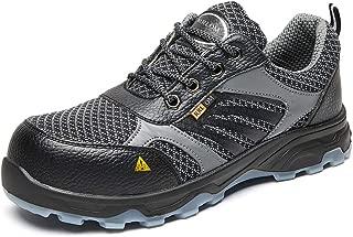 RRLOM Work Safety Shoes for Men and Women Slip Resistant Steel Toe Lightweight Industrial & Construction Shoe