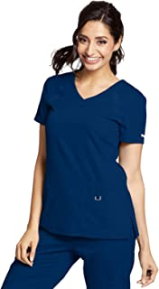 bc1c59a1600 Grey's Anatomy Active 41447 Women's 3 Pocket Knit Side Panel Scrub Top