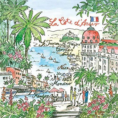 20er Pack Servietten La Côte d'Azur 33 x 33 cm
