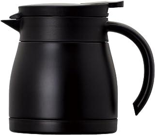 Atlas アトラス 飛び散りにくい注ぎ口の ステンレス コーヒー サーバー 0.6L ブラック ACS-602BK Coffee 珈琲 卓上 ポット ドリップ 真空 断熱 2重構造 ダブル ステンレス