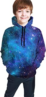Nebula Galaxy Kids/Teen Girls' Boys' Hoodies,3D Print Pullover Sweatshirts