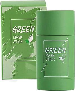 Green Tea Cleansing Mask, Green Mask Stick, Maschera Detergente, per la Pulizia Dell'acne, Rimozione Profonda dei Punti ne...