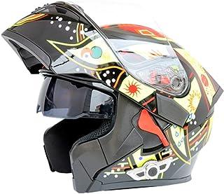 Adult Flip Motorcycle Motorbike Helme Bluetooth Mountain Bike Helmet Cross Country Sports Helmet Anti-fog Double Lens Helm...