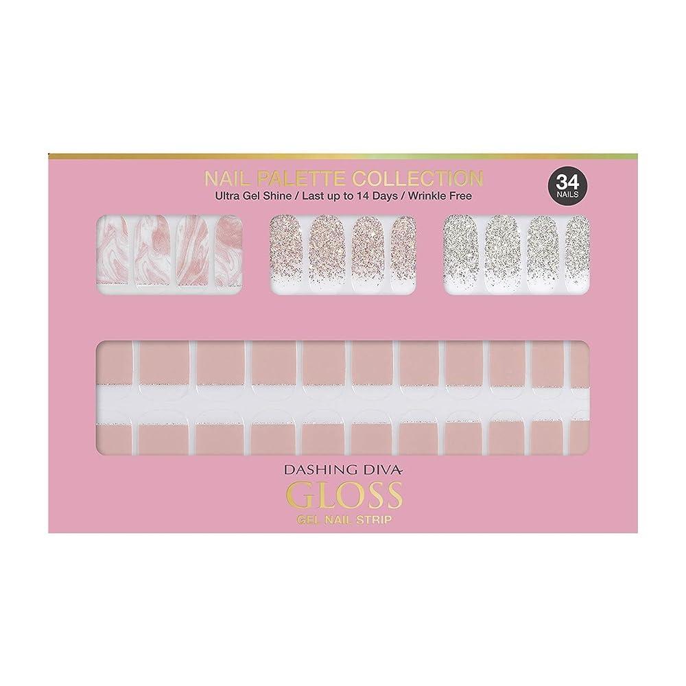 トイレ倒産酔うダッシングディバ グロスジェル ネイルストリップ DASHING DIVA Gloss Gel Nail Strip DGNP03-DURY+ オリジナルジェル ネイルシール Rosy #03 Strawberry Latte