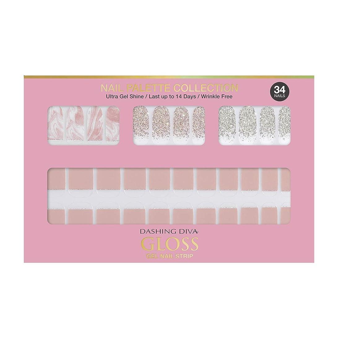 奇妙なドル締め切りダッシングディバ グロスジェル ネイルストリップ DASHING DIVA Gloss Gel Nail Strip DGNP03-DURY+ オリジナルジェル ネイルシール Rosy #03 Strawberry Latte