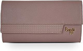 Baggit Autumn-Winter 2020 Faux Leather Women's 3 Fold Wallet (Pink) (Cuflink)