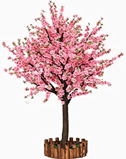 Vicwin-One Artificial Cherry Blossom Trees Japanese Cherry Blossom Pink/Light Pink Fake Sakura Flower Indoor Outdoor Home Office Party (Pink, 4FT Tall/1.2M)