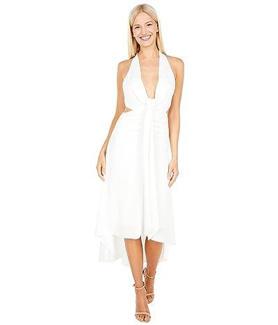 BCBGMAXAZRIA Tie Front Cutout Gown