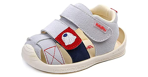 Moceen Kids Soft Microfiber Leather Sandals Light-Weight Toddler Boys//Girls Closed Toe Pre School Shoes