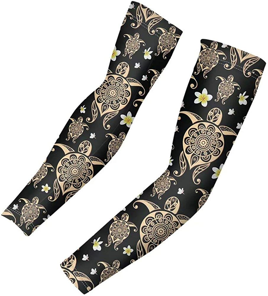 GIFTPUZZ Sports Arm Sleeves Cooling Compression Arm Sleeves Anti Slip Outdoor Activities Sun Protection Tattoo Cover