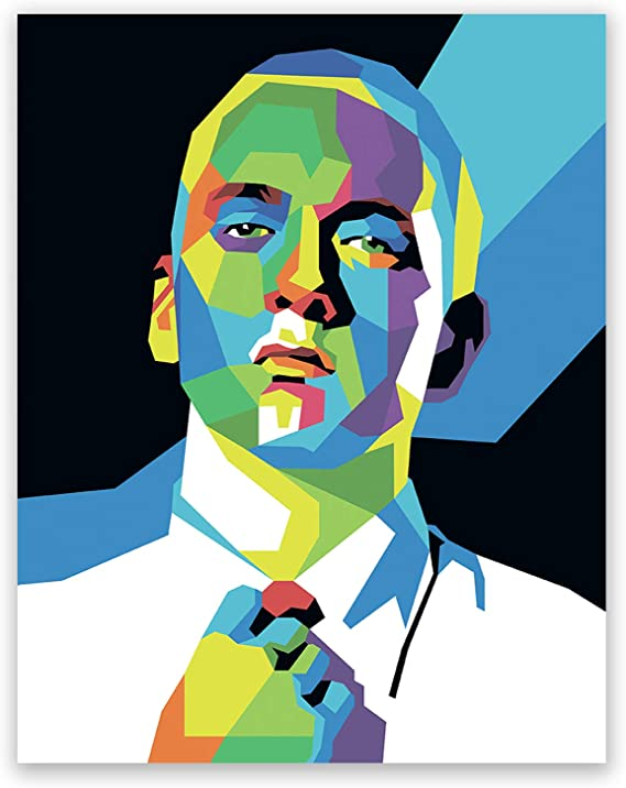507 Eminem Rapper Stars Pop Art Wall Cloth Poster Print