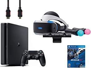 PlayStation VR Start Bundle 5 Items:VR Headset,Move Controller,PlayStation Camera Motion Sensor,Sony PS4 Slim 1TB Console ...