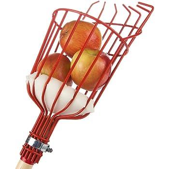 Kiorc Fruit Picker Basket Tree Fruits Picking Harvesting Tool Gardening Supplies Metal