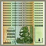 Zimbabwe 20 billones de dólares x 10 piezas 2008 P86 Consecutive Currency Bills