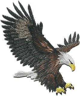 águila pájaro está volando - Parches termoadhesivos bordados aplique para ropa, tamaño: 6,3 x 5,5 cm