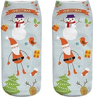 Ankle Socks, Toamen Men Women Unisex Christmas Cartoon 3D Printed Popular Funny Anklet Socks, Anti-slip Floor Socks Carpet...