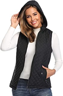 Women's Lightweight Quilted Zip Vest Stand Collar Gilet Padded Sleeveless Vest