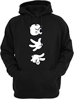 Cartoon Hands Rock Paper Scissors Designs Unisex Hoodie