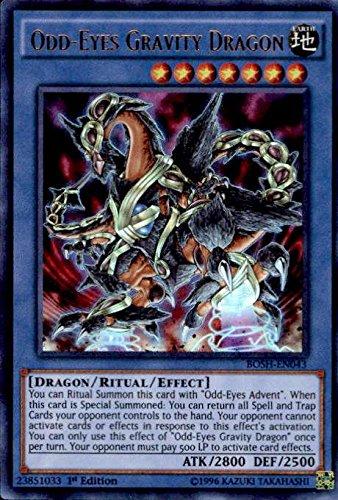 Yu-Gi-Oh! - Odd-Eyes Gravity Dragon (BOSH-EN043) - Breakers of Shadow - 1st Edition - Ultra Rare