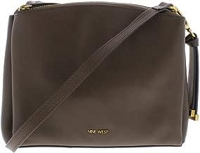 Nine West Womens Levona Faux Leather Organizational Crossbody Handbag