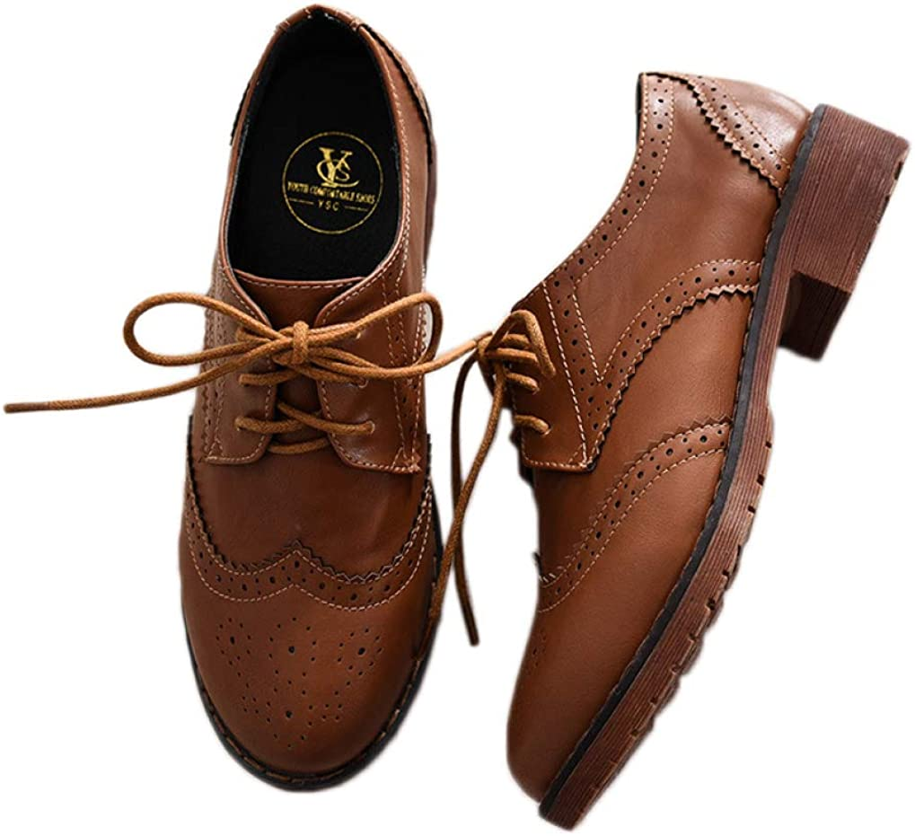 Womens Perforated Wingtip Lace Up Toe Oxfords Vintage store Discount is also underway Round Low