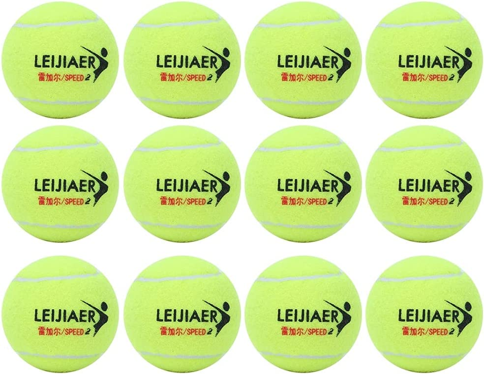 12 pcs Durable RubberHigh Resilience Tennis Ball Practice Balls