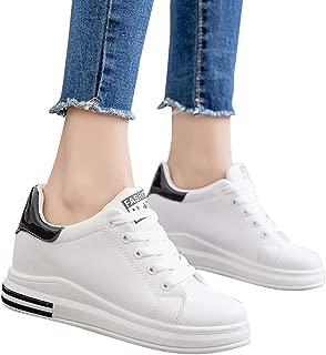 ACHICOO Ladies Casual Internal High Heel Sports Running Shoes Sneakers